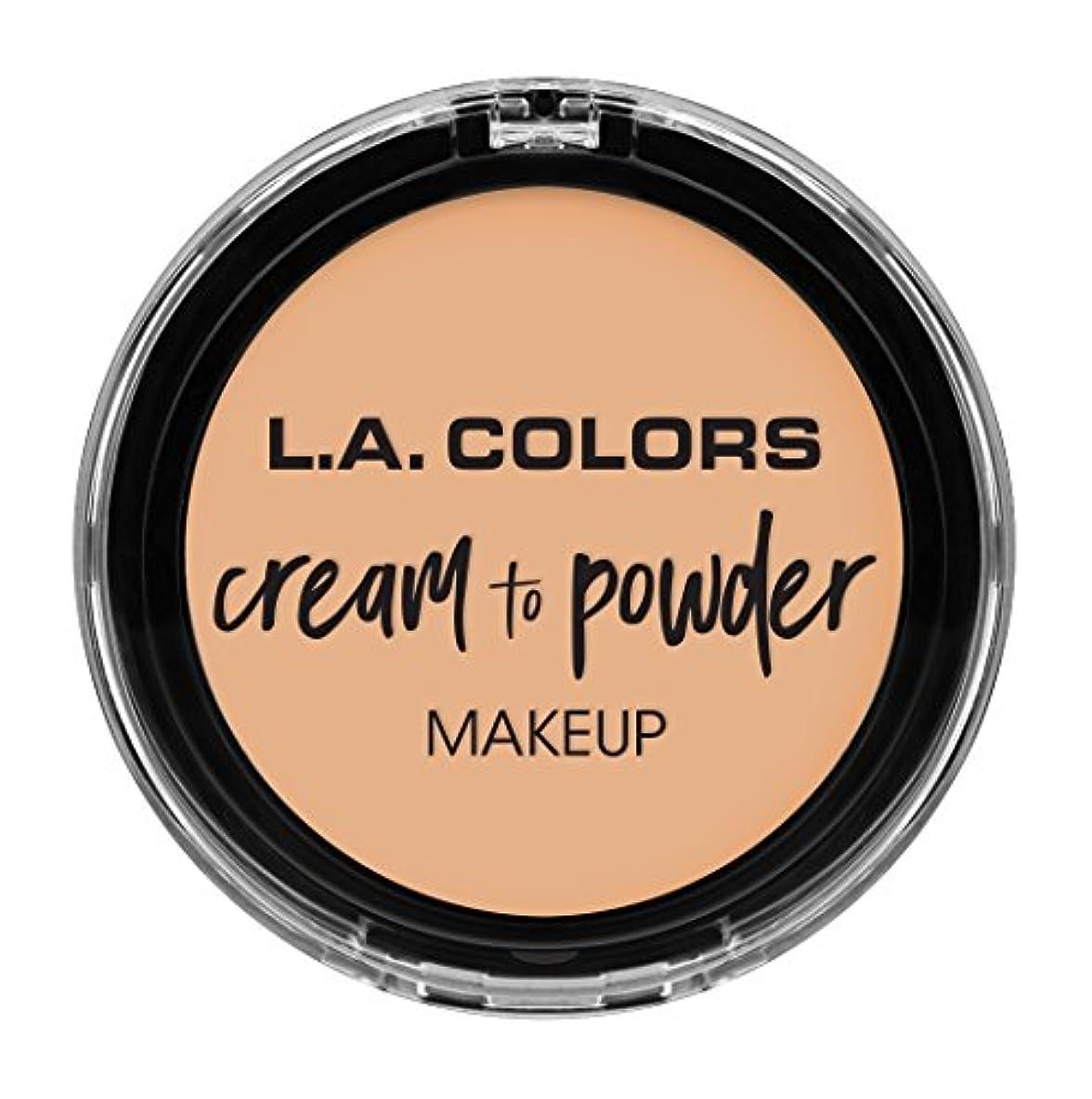 権利を与えるパンツ質素なL.A. COLORS Cream To Powder Foundation - Buff (並行輸入品)