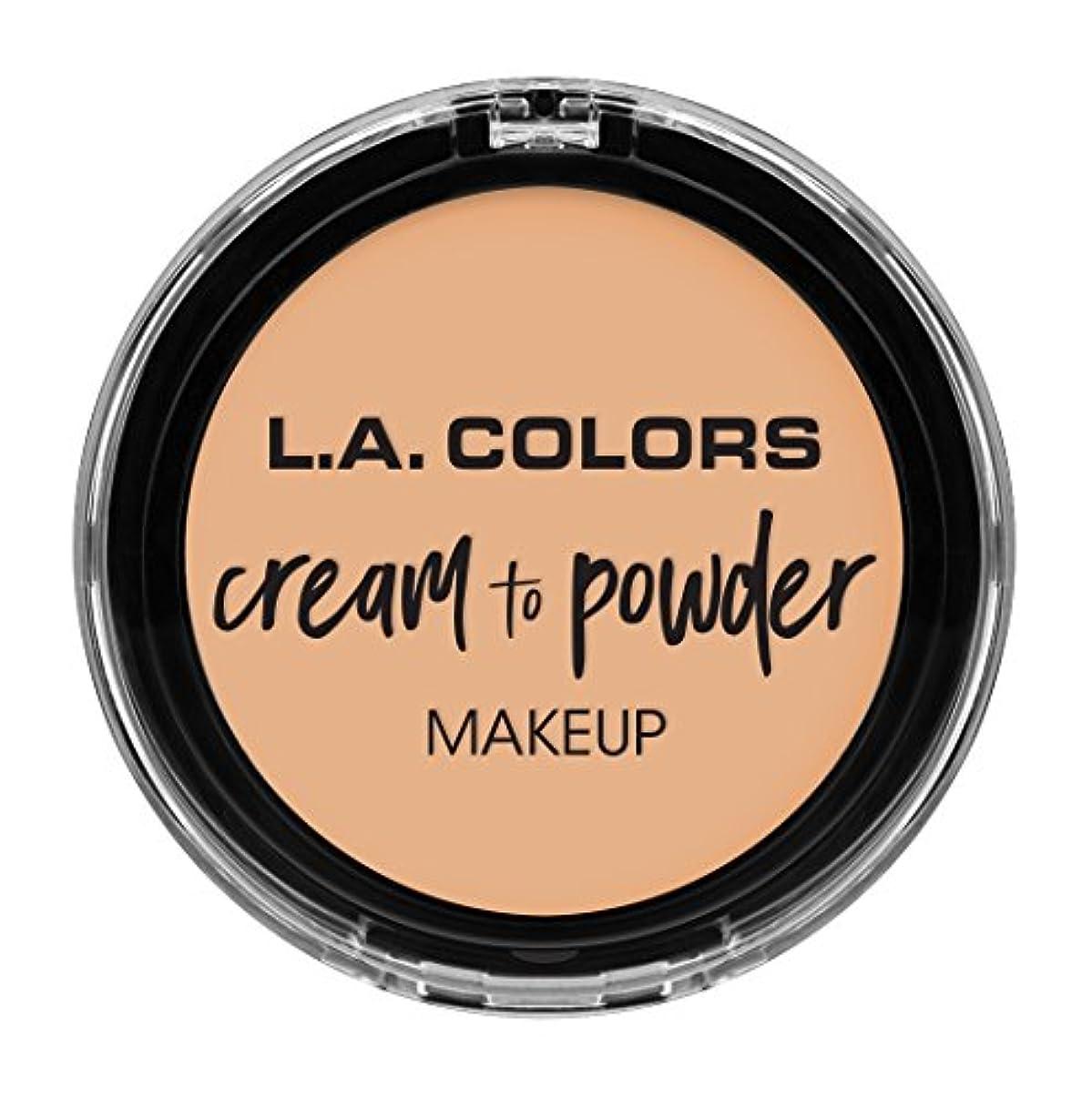 累積教室風景L.A. COLORS Cream To Powder Foundation - Buff (並行輸入品)
