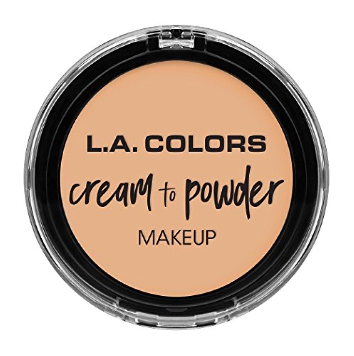 機関車夕暮れたぶんL.A. COLORS Cream To Powder Foundation - Buff (並行輸入品)