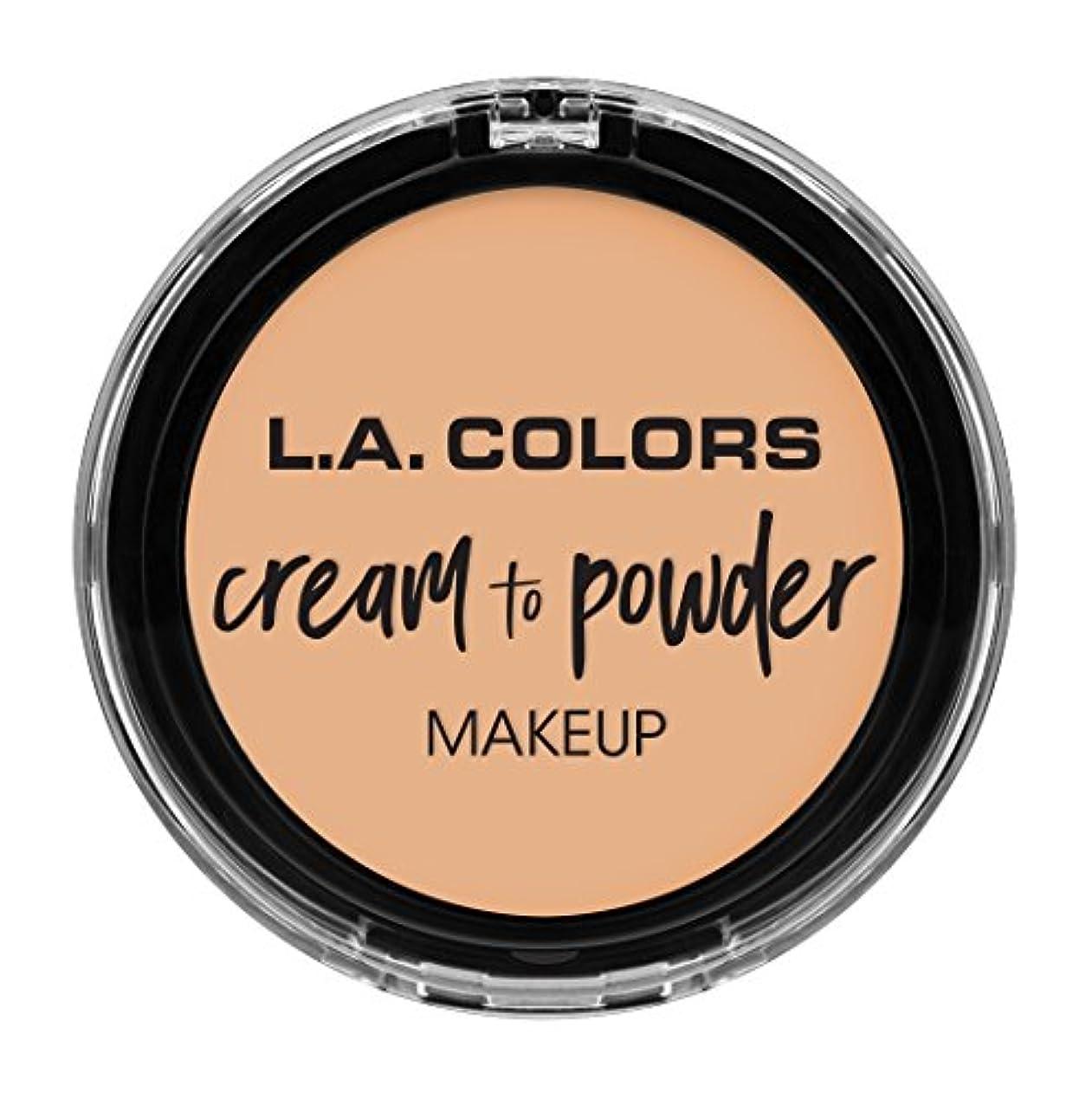 なめらかなシンプルな変装したL.A. COLORS Cream To Powder Foundation - Buff (並行輸入品)