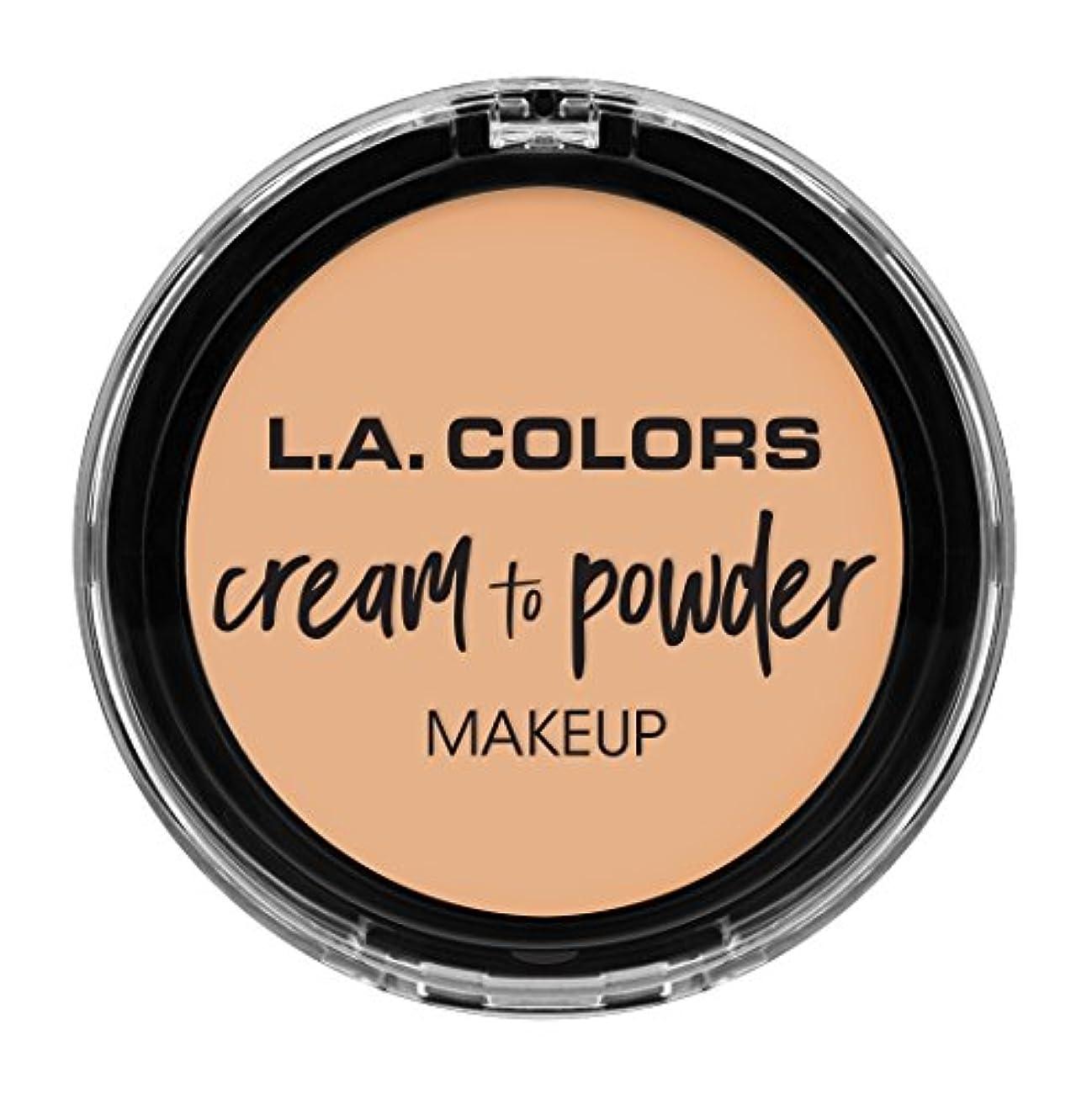 小人インシュレータ不安定L.A. COLORS Cream To Powder Foundation - Buff (並行輸入品)