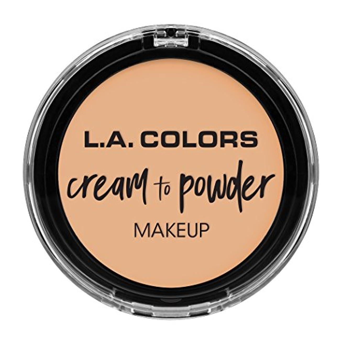 公式ペンフレンド熱L.A. COLORS Cream To Powder Foundation - Buff (並行輸入品)