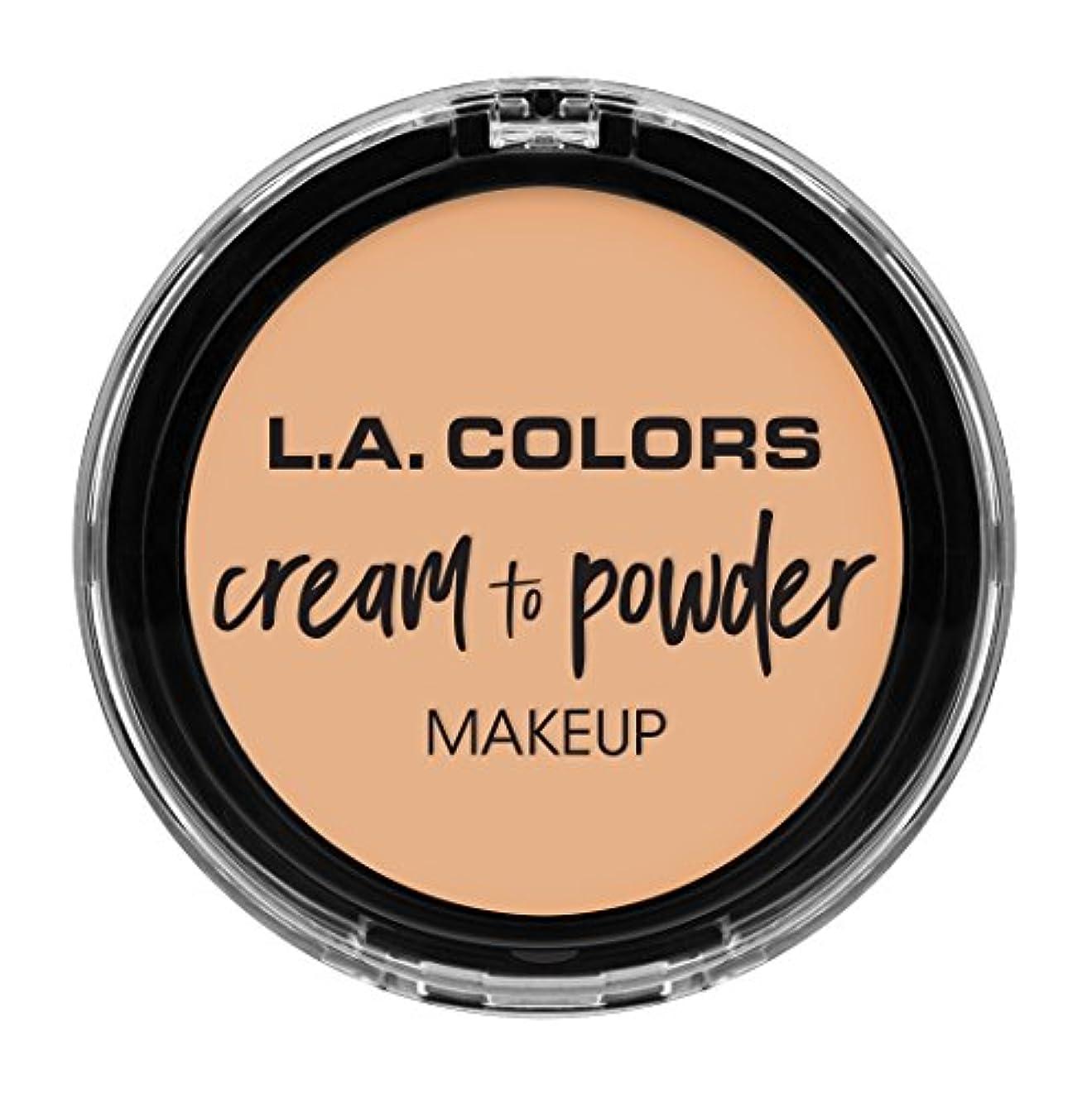 マダムメンタリティガードL.A. COLORS Cream To Powder Foundation - Buff (並行輸入品)