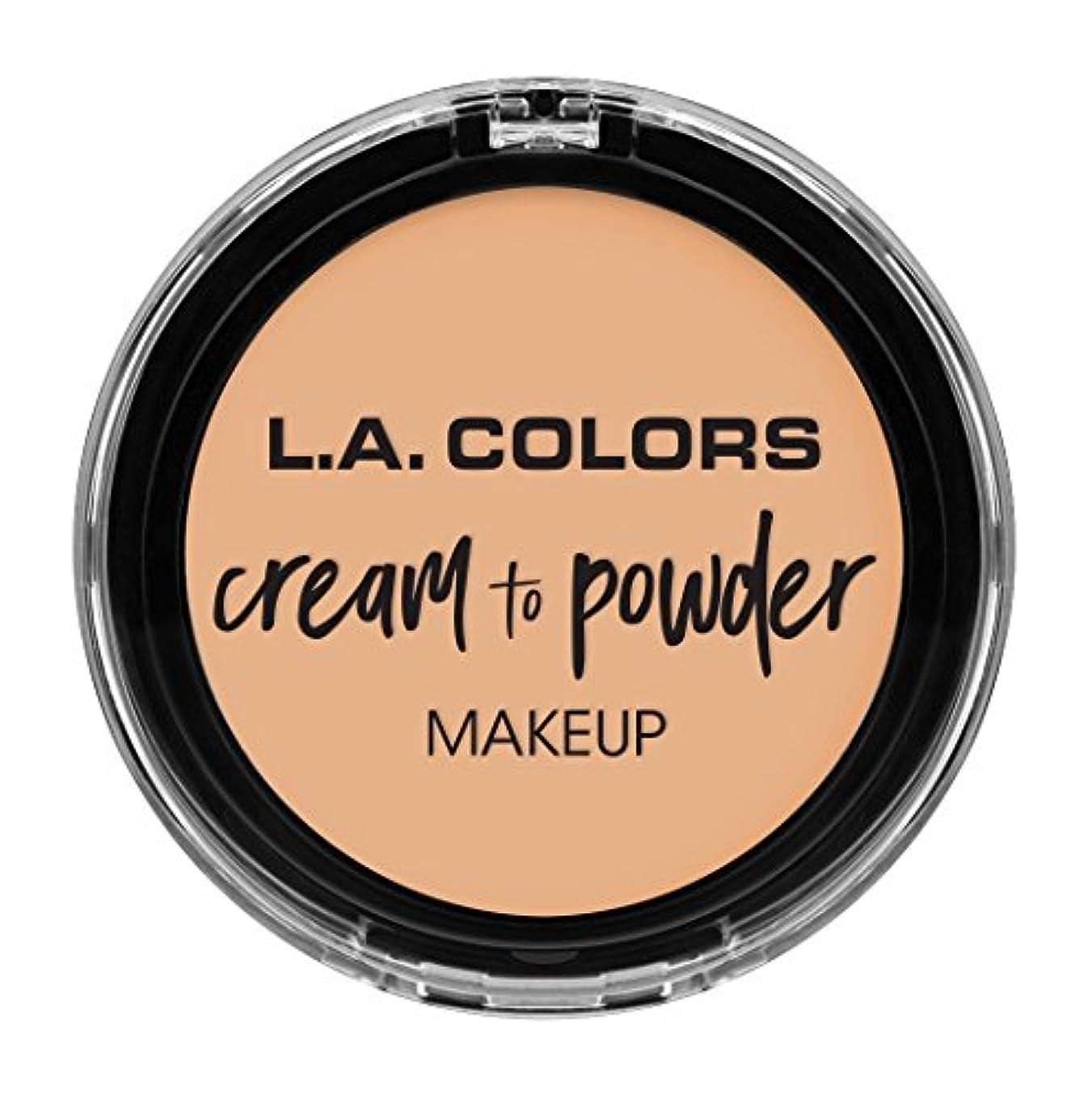 はっきりと外側読むL.A. COLORS Cream To Powder Foundation - Buff (並行輸入品)