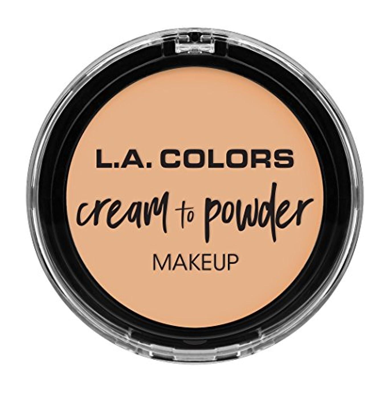 驚き男やもめ書き出すL.A. COLORS Cream To Powder Foundation - Buff (並行輸入品)