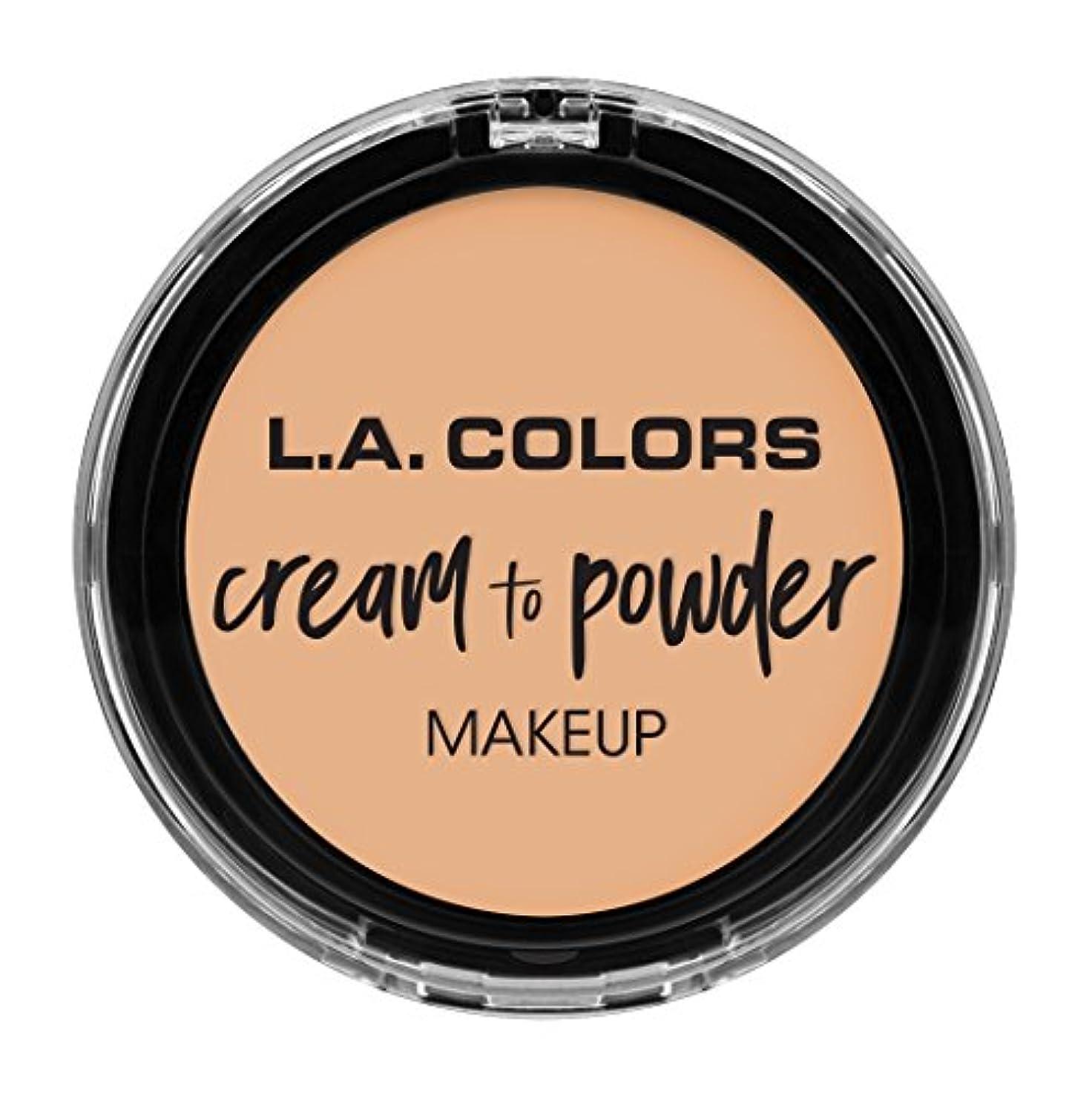 観点廃止忘れられないL.A. COLORS Cream To Powder Foundation - Buff (並行輸入品)