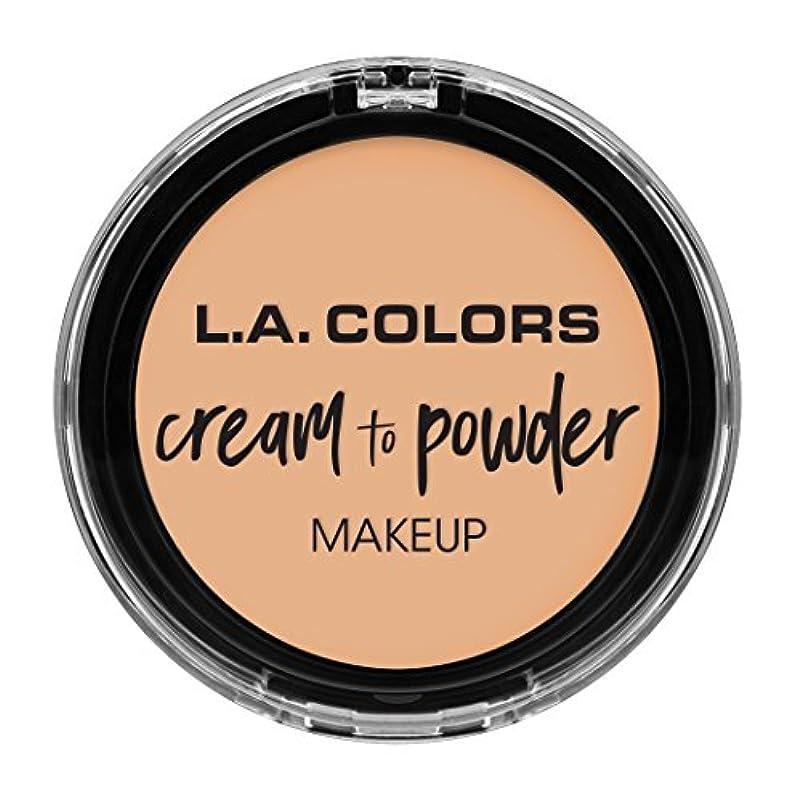 看板ヘッジ森L.A. COLORS Cream To Powder Foundation - Buff (並行輸入品)
