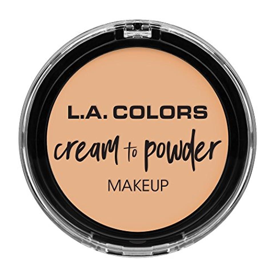 学んだアドバイス飾るL.A. COLORS Cream To Powder Foundation - Buff (並行輸入品)