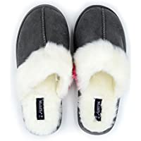 Millffy Nordic Style Faux Fur Trim Rabbit Hair Women's Suede Memory Foam Slippers Indoor eva Slipper