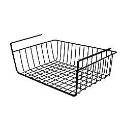 (ヨンツリー)Yontreeバスケット 吊り下げ収納 収納カゴ 多用途 キッチン 教室 掛け式 Lブラック