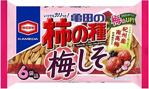 亀田製菓 亀田の柿の種 梅しそ 6袋詰×12袋