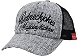 Amazon.co.jp(エクサス)EXAS (大きいサイズ帽子 最大65cm 調節可能)フェイクジュートボタニカル柄メッシュキャプ グレー