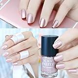 WebShopCenter(TM) 9ml Born Pretty Metallic Nail Polish Rose Gold Mirror Effect Varnish Manicure