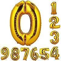 CCINEE 90cm 数字6 風船 数字バルーン ゴム風船 誕生日 パーティー飾りに 2個セット