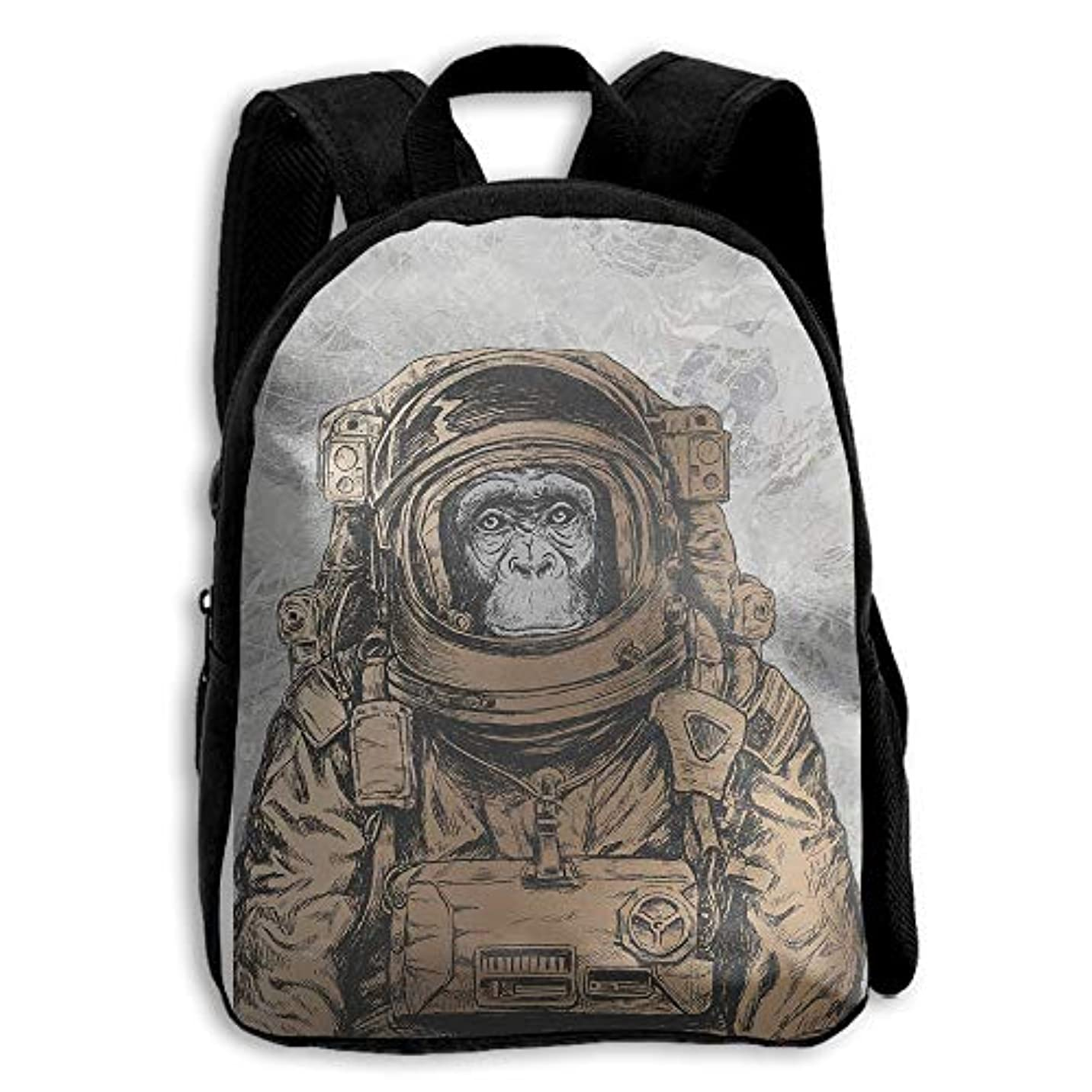 登る給料ブランドキッズ バックパック 子供用 リュックサック モンキー 宇宙飛行士 ショルダー デイパック アウトドア 男の子 女の子 通学 旅行 遠足
