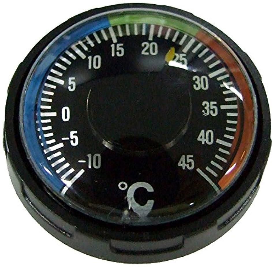 透けて見えるメディカルシーボードYCM 温度計 ダイバーサーモメーター オイル式 20気圧防水 ブラック NO60D