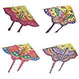 FUNCOCO Butterfly Kite, Easy Flyer Kite for Kids - Easy to Assemble, Launch, Fly- Perfect for Beach or Park by Hengda Kite, Random