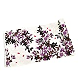 ノーブランド品 訳あり 女性 浴衣反物 紅梅織 広幅 スクリーン染め 白系 桜白紫