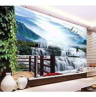 Mingld カスタム壁画3D写真の壁紙水が落ちるクレーン家の装飾絵画3D壁の壁画の壁紙リビングルームの壁3 D-400X280Cm