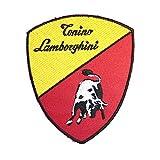 ノーブランド品 ランボルギーニ Lamborghini CARandBIKE ワッペン 赤
