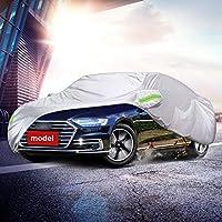 HXGL-車のカバー アウディR8との互換性特別な雨の傷に強い車のカバー全天候用保護絶縁車の服 (Color : Silver)