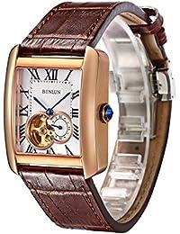 dd5ae28dde 腕時計 スケルトン メンズ BINLUN 自動巻き 機械式 高級 シースルーバック 5気圧防水 人気 ファッション