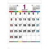 新日本カレンダー 2017年 カレンダー 壁掛け カラーラインメモ NK-174