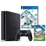 PlayStation 4 ジェット・ブラック 500GB + 初音ミク -Project DIVA- X HD + New みんなのGOLF ダウンロード版【Amazon.co.jp限定】オリジナルカスタムテーマ配信
