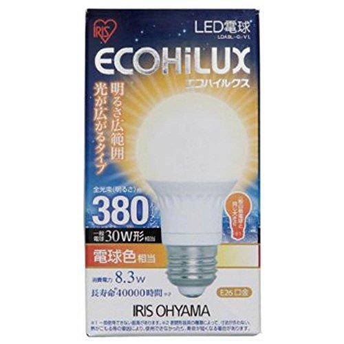 エコルクス LED電球8.3W 電球色 LDA8L‐G‐V1 箱1個