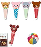 【ビニール玩具】 アニマルポップ コーン型スティック  (12個入)  / お楽しみグッズ(紙風船)付きセット [おもちゃ&ホビー]