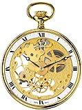[アエロウォッチ]AEROWATCH 懐中時計 オープンフェイス スモールセコンド スケルトン 手巻き式 ゴールド SWISS MADE 56738 J501  【正規輸入品】