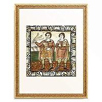作者不明 「Jubilating men when Christ enters into Jerusalem. 1109-14」 額装アート作品