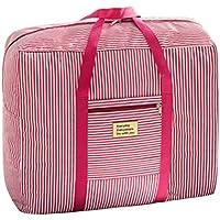 OUNONA 大型バッグ 布団袋 荷物袋 大容量 収納袋 オックスフォード製 ピンク size L