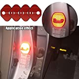 【Maidao】適合多数 ホンダ Honda 汎用 ドア ロック ストライカー カバー Bタイプ+赤 高輝度 反射テープ 4枚 CR-Z S660 RB RC オデッセイ RG RK ステップワゴン等