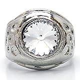 [ソリッド]solid ヒップホップ HIPHOP 高品質プラチナシルバーRG加工リング 指輪 メンズ 19号[solid-vv