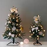 【Blooming&me】 「数量限定」クリスマス特集 クリスマスツリー 北欧風 おしゃれ スリムツリー デザインツリー 高級クリスマスツリー (ゴールドオーナメントセット)タイプ 60cm 90cm 120cm 150cm (90cm+雪の華 LEDライト)