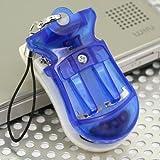 [デジカメも、ケータイも、スマートフォンも充電!] バッテリーパックUSB充電器携帯ストラップ(ブルー)UKJ-BT1-BL