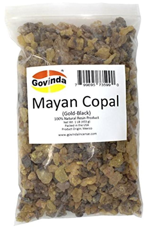 感謝祭再現する立派なGovinda – マヤCopal ( gold-black ) Incense樹脂1 lb