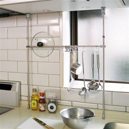 足立製作所『幅伸縮突っ張りキッチンツールハンガー』