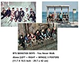(Y1. You Never Walk Alone 3 Posters) - BTS BANGTAN BOYS - You Never Walk Alone [LEFT + RIGHT + WINGS] 3 POSTERS