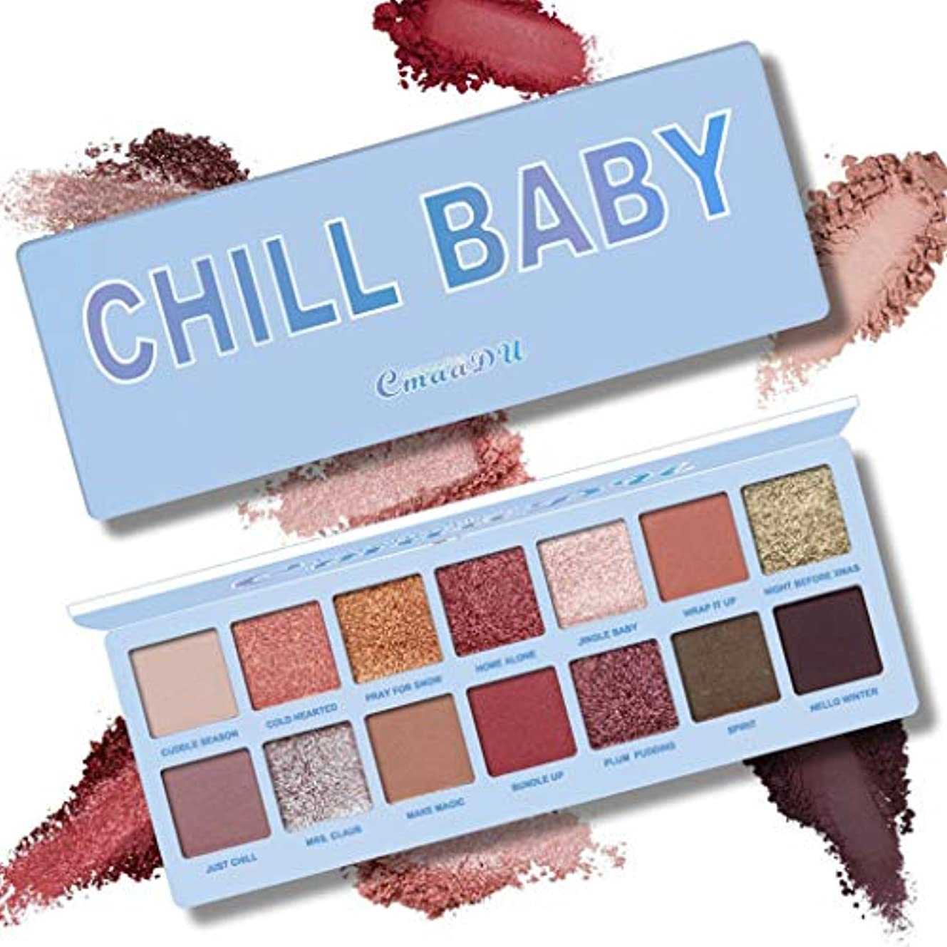 釈義キャッチ王位健康と美容アイシャドウ 3ピース14色ヌードシャイニングアイシャドウパレット防水スモーキーアイシャドーパレットマットパウダー化粧品(スカイブルー) 化粧 (色 : Sky blue)