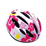 J@G connection(ジャグコネクション) 子供用 自転車用 ヘルメット 超軽量 可愛い オシャレ (4-フラワー2(単品))