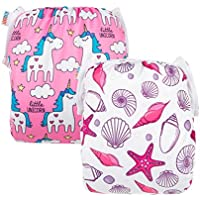 ALVABABY Swim Nappies Diapers 2 Pcs One Size Reuseable Adjustable & Stylish Baby Gifts