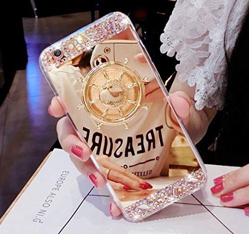 日本未発売 SPRING COME® [車輪ハンドスピナー付き鏡面スマホンケース」フォーカス玩具 iphone 5/SE /IPhone6s iPhone6 PLUS/ iphone7 7s 軽量 ウルトラ スリム 超薄型 プラスチック メッキ 360度保護 全面的保護機能  Hand Spinner Fidget Spinner ソフト バック ケース アイホン5 アイホンSE / アイフォン6s / 6アイフォン6 / 6s / 7/7プラス カバー スマホケース スマホカバー 超薄 軽量 プラスチック製 アイホン6s プラス カバー アイフォーン (アイホン7/8プラス, ゴールド) [並行輸入品]