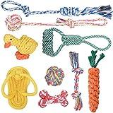 犬ロープおもちゃ 犬おもちゃ 犬用玩具 Ninonly 噛むおもちゃ ペット用 コットン ストレス解消 9個セット 丈夫 耐久性 清潔 歯磨き 小/中型犬に適用
