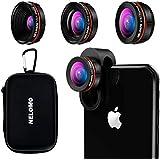 NELOMO スマホ用カメラレンズ 230°超広角 マクロレンズ スマホ 魚眼レンズ 高画質 独特の合金クリップ iPhone/HTC/Android タブレットPCなど対応 (赤い色)