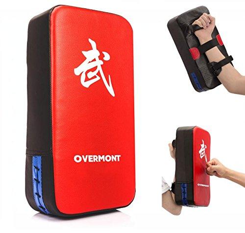 Overmont キックミット キックボクシング パンチングミット テコンドー 空手 総合格闘技 武術 トレーニング ダイエット 子供 初心者に