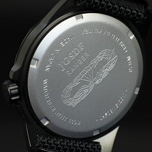 JSDF自衛隊腕時計陸上自衛隊迷彩モデル ブラックIPケースバリスティックナイロンベルトS715M-08KENTEXミリタリー時計陸自レンジャー