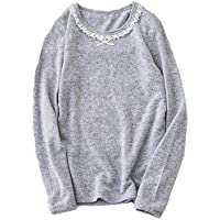 IWEAGER Youth Girls Long Sleeve Round Neck T-Shirt Casual Basic Solid Toddler Tunic Tops 4-8Y