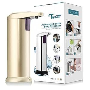 TAPCET オートソープディスペンサー ステンレス 自動センサー出液 吐出量3段調整可 280lm ゴールド